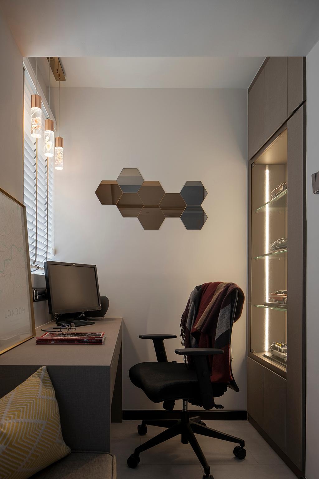 Modern, HDB, Study, Bishan Street 22, Interior Designer, ELPIS Interior Design, Contemporary