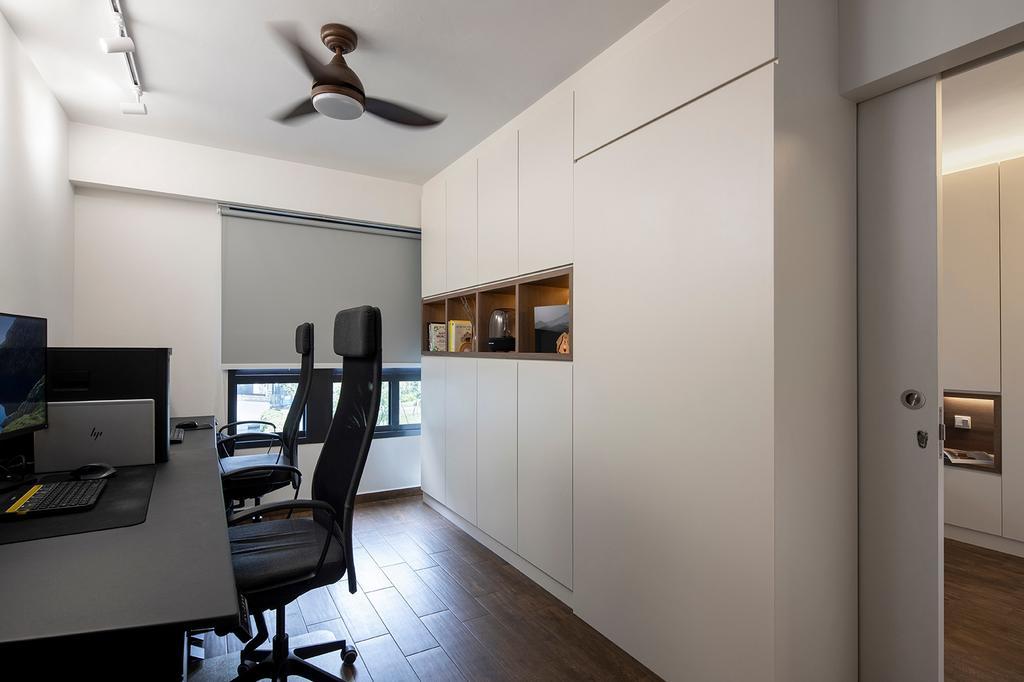 Contemporary, HDB, Study, Bidadari Park Drive, Interior Designer, ELPIS Interior Design, Scandinavian