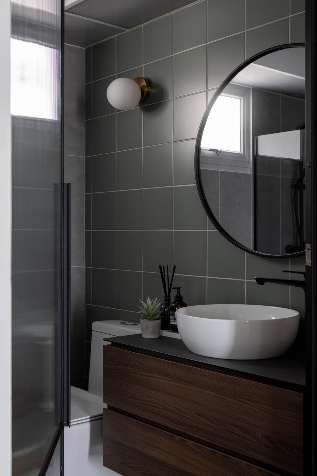 Minimalistic, HDB, Bathroom, Bidadari Park Drive, Interior Designer, Authors • Interior & Styling