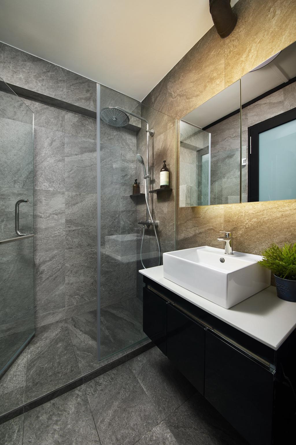 Contemporary, HDB, Bathroom, Bishan Street 12, Interior Designer, Ovon Design, Minimalistic