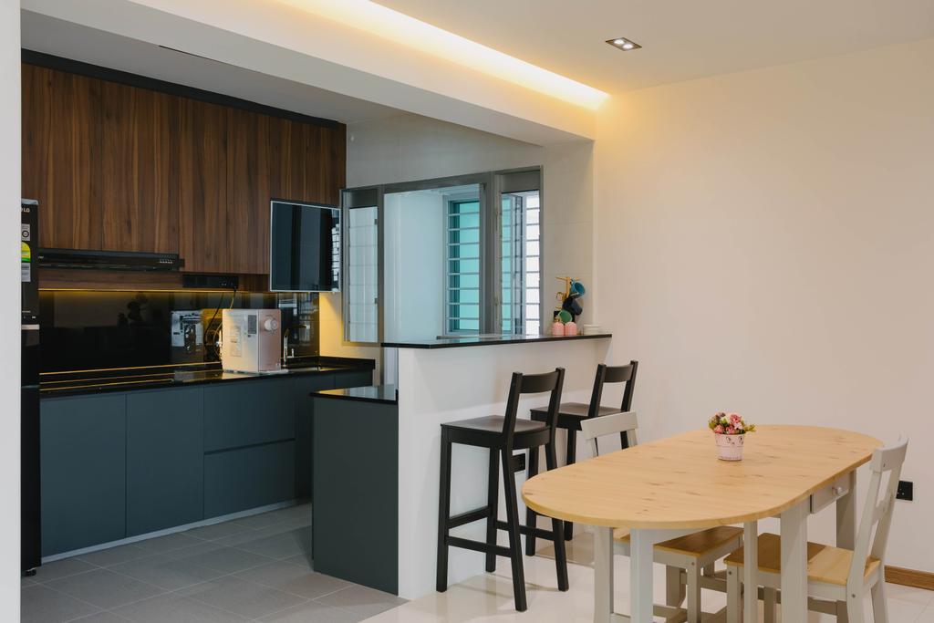 Modern, HDB, Kitchen, Canberra Street, Interior Designer, Tab Gallery, Contemporary