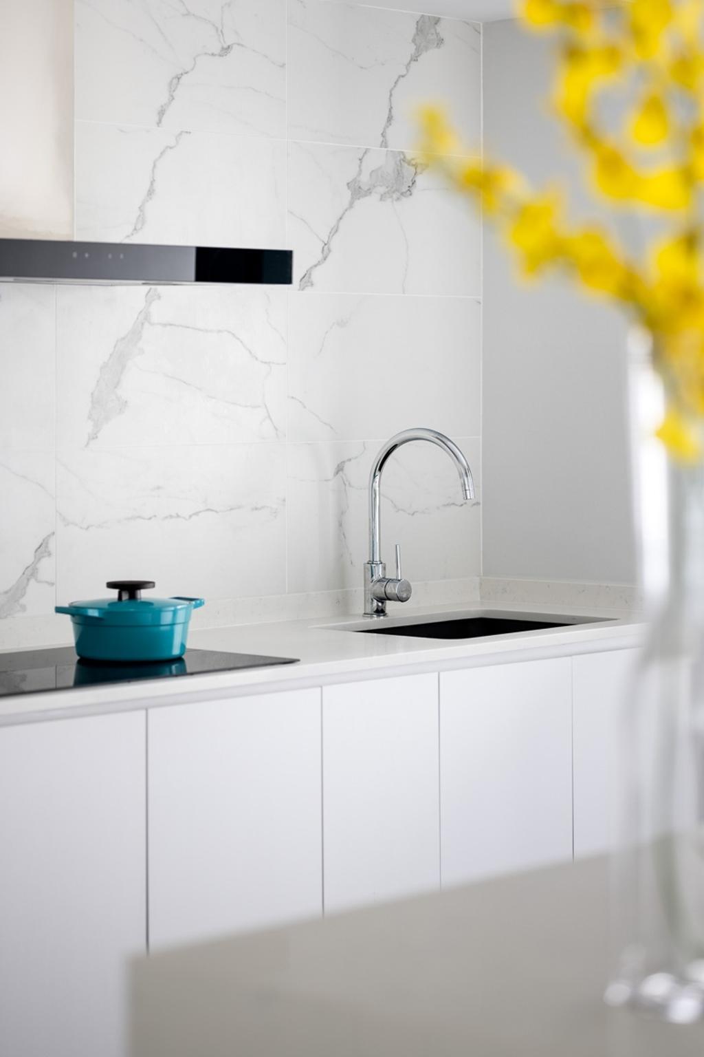 Contemporary, HDB, Kitchen, Lorong Ah Soo, Interior Designer, Anhans Interior Design, Scandinavian