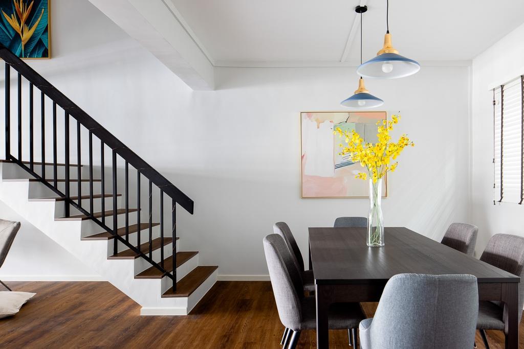 Contemporary, HDB, Dining Room, Lorong Ah Soo, Interior Designer, Anhans Interior Design, Scandinavian, Maisonette