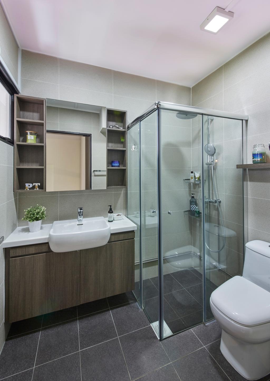Modern, HDB, Bathroom, Bishan Street 23, Interior Designer, Rubiks Studio