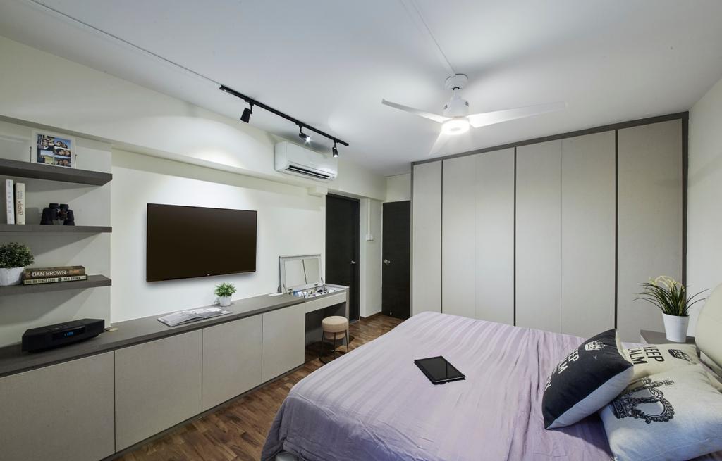 Modern, HDB, Bedroom, Bishan Street 23, Interior Designer, Rubiks Studio