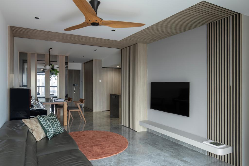 Modern, HDB, Living Room, Bishan Street 24, Interior Designer, Rubiks Studio