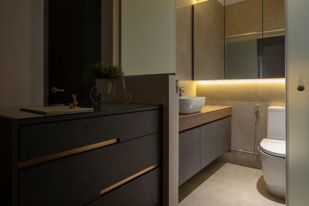 Modern, HDB, Bathroom, Bishan Street 24, Interior Designer, Rubiks Studio