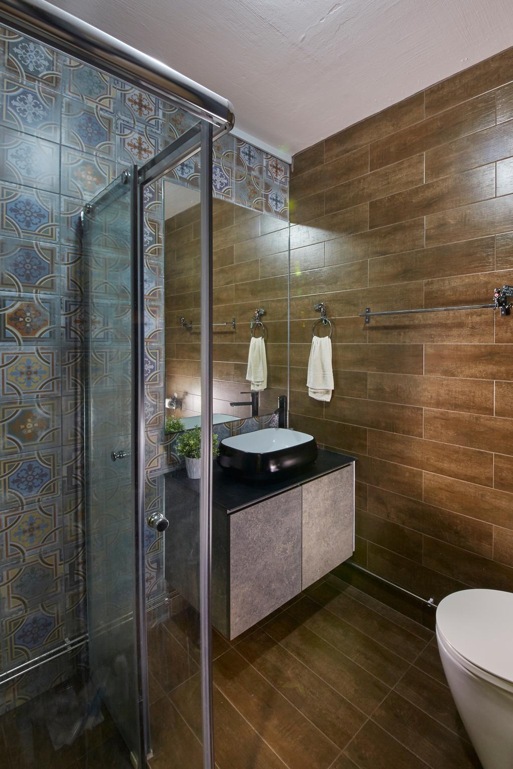 Contemporary, HDB, Bathroom, Jalan Rajah, Interior Designer, Rubiks Studio, Scandinavian