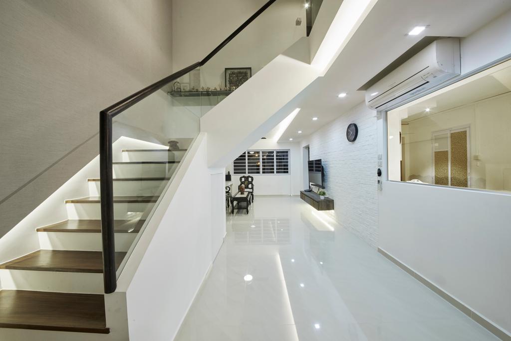 Modern, HDB, Living Room, Bishan Street 23, Interior Designer, Rubiks Studio, Scandinavian, Maisonette