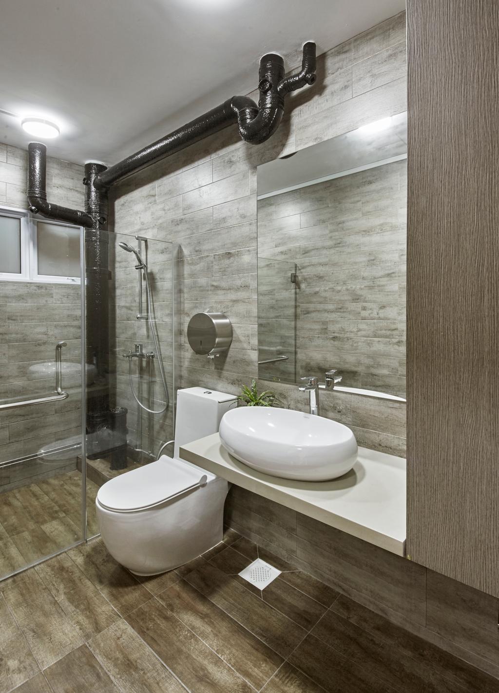 Modern, HDB, Bathroom, Bishan Street 23, Interior Designer, Rubiks Studio, Scandinavian