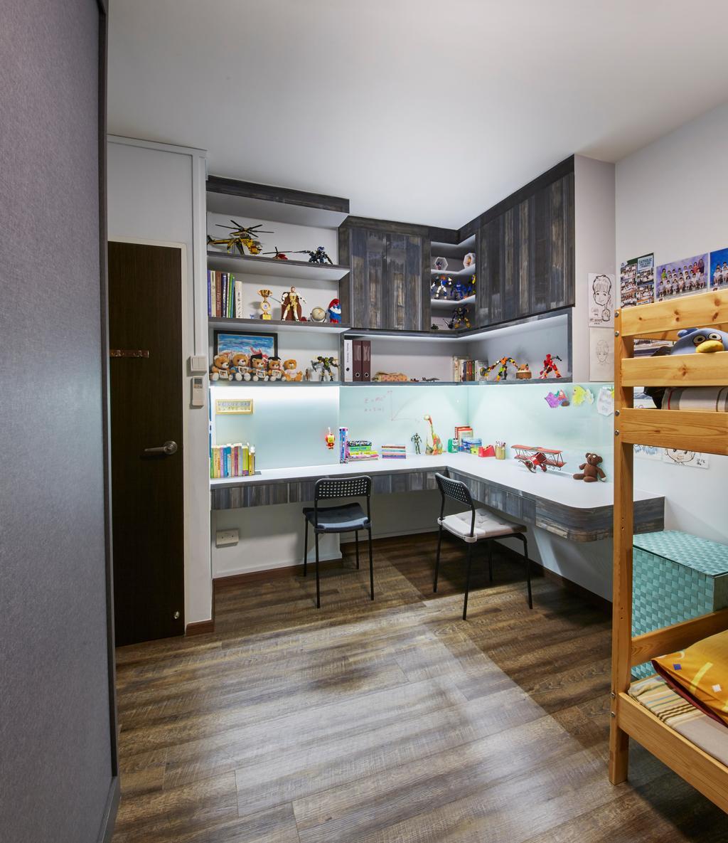 Modern, HDB, Study, Bishan Street 23, Interior Designer, Rubiks Studio, Scandinavian