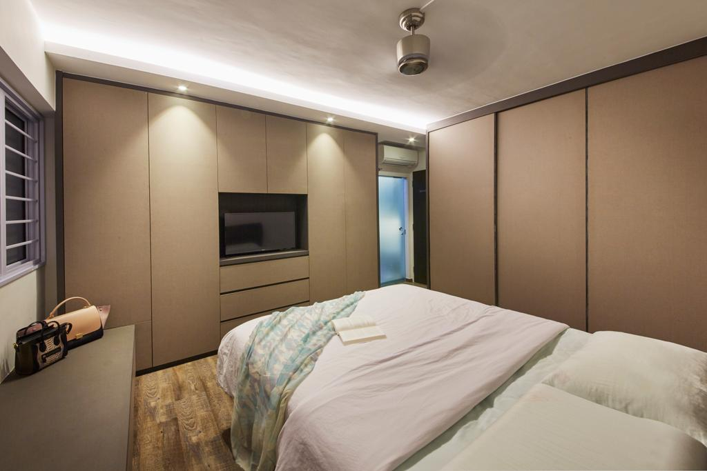 Modern, HDB, Bedroom, Bishan Street 23, Interior Designer, Rubiks Studio, Scandinavian