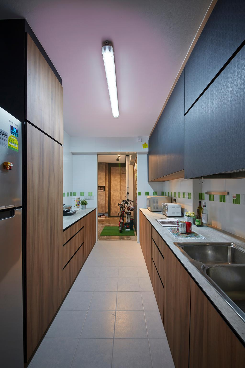 Eclectic, HDB, Kitchen, Anchorvale Street, Interior Designer, Rubiks Studio