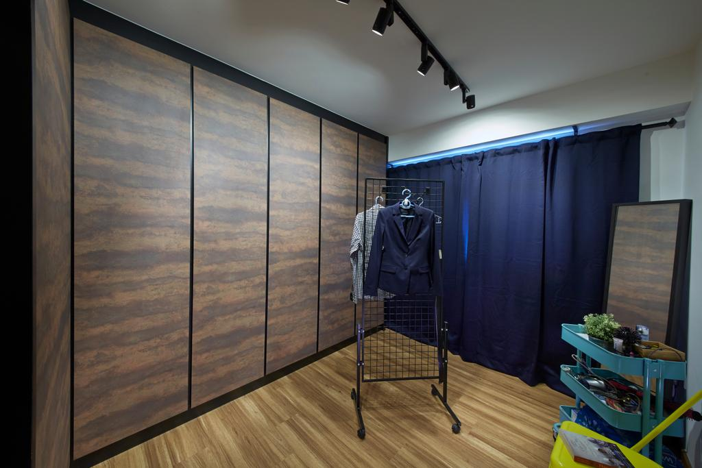Eclectic, HDB, Bedroom, Anchorvale Street, Interior Designer, Rubiks Studio