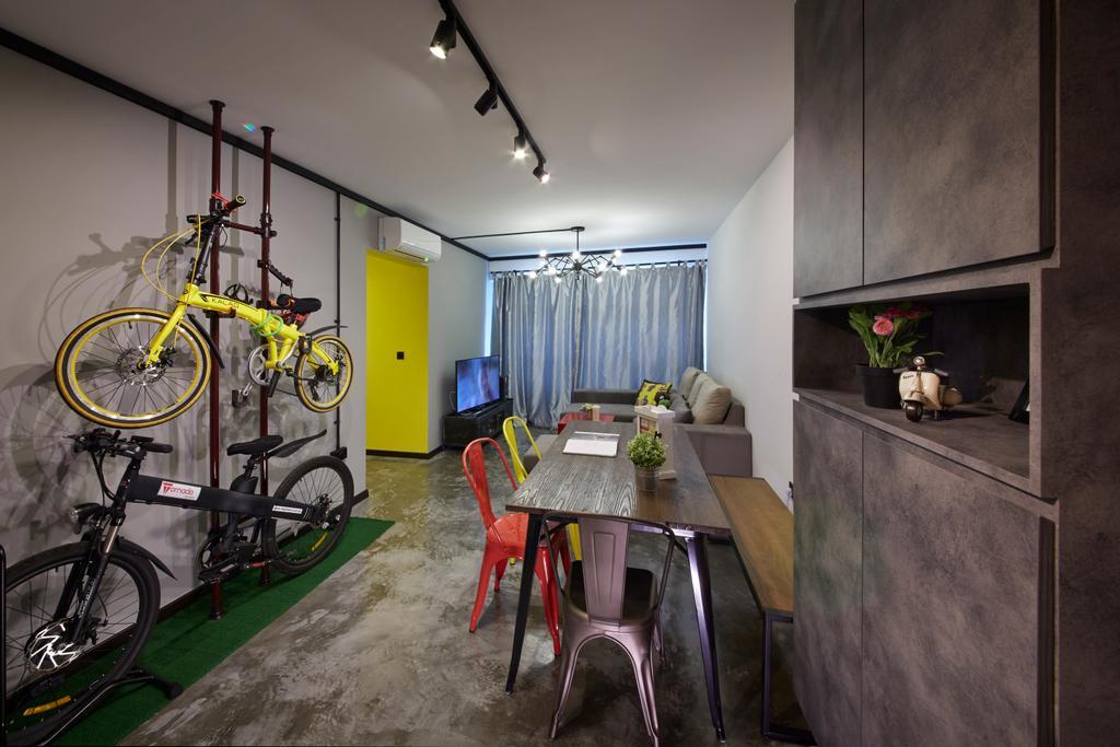 Eclectic, HDB, Dining Room, Anchorvale Street, Interior Designer, Rubiks Studio