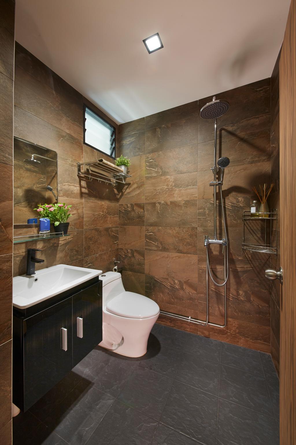 Modern, HDB, Bathroom, Kimpong Road, Interior Designer, Rubiks Studio, Contemporary