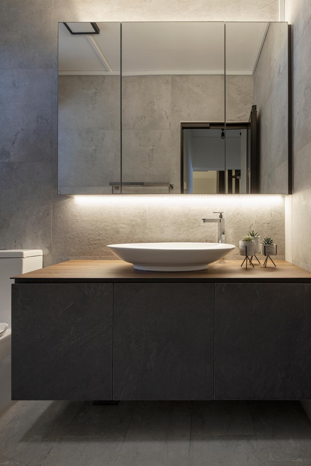 Minimalistic, HDB, Bathroom, Tampines Street 81, Interior Designer, Rubiks Studio, Contemporary