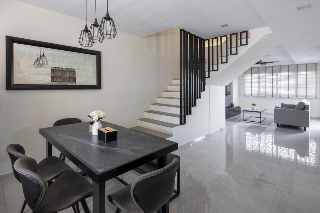 Minimalistic, HDB, Dining Room, Tampines Street 81, Interior Designer, Rubiks Studio, Contemporary