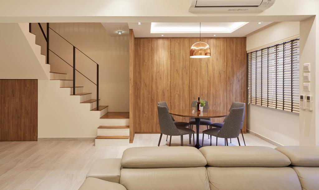 Modern, HDB, Dining Room, Yishun Street 81, Interior Designer, Rubiks Studio, Scandinavian, Maisonette