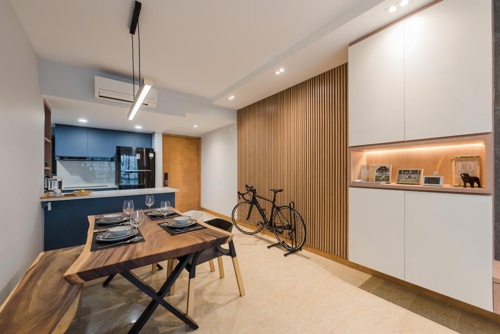 Contemporary, Condo, Dining Room, Tanamera Crest, Interior Designer, Dap Atelier