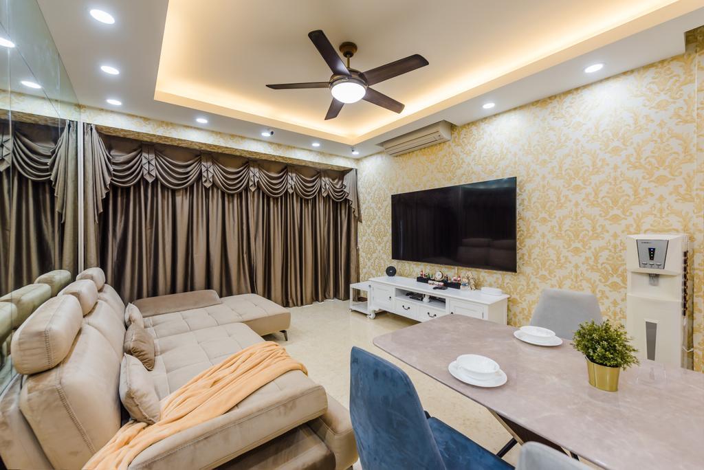 Modern, Condo, Living Room, The Waterina, Interior Designer, Dap Atelier