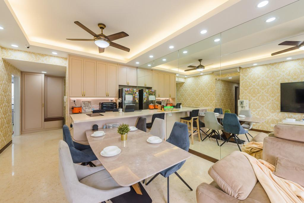 Modern, Condo, Dining Room, The Waterina, Interior Designer, Dap Atelier