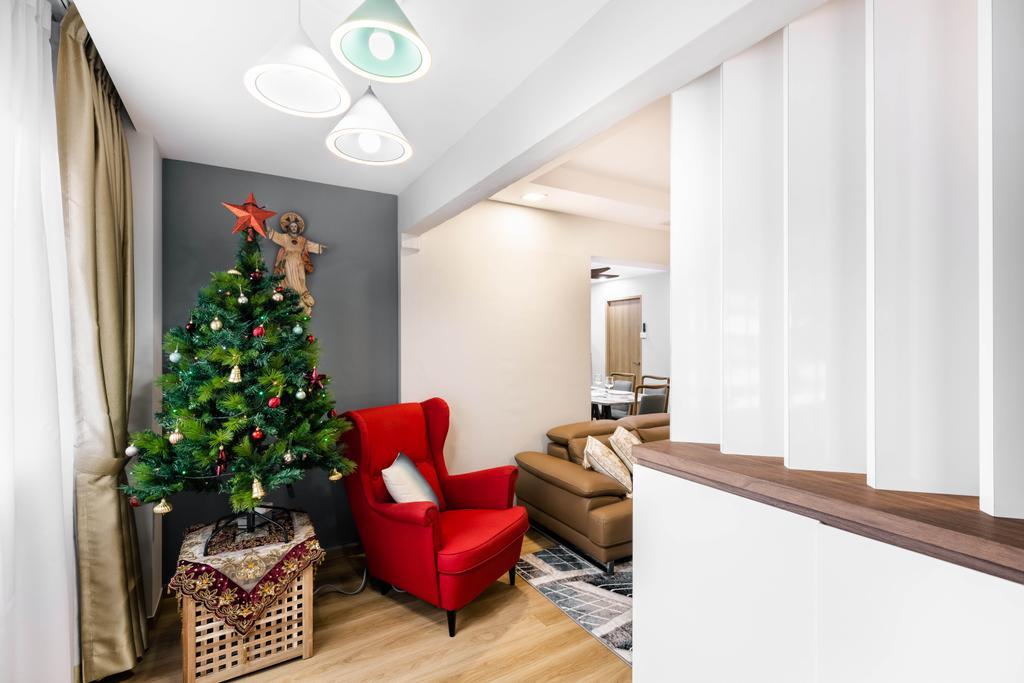 Modern, HDB, Living Room, Choa Chu Kang Central, Interior Designer, U-Home Interior Design