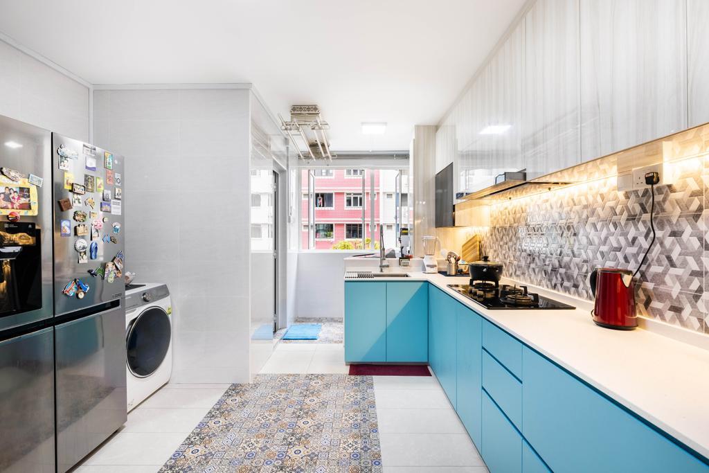 Modern, HDB, Kitchen, Choa Chu Kang Central, Interior Designer, U-Home Interior Design