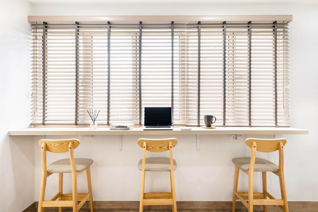 Minimalistic, HDB, Living Room, Compassvale Crescent, Interior Designer, U-Home Interior Design