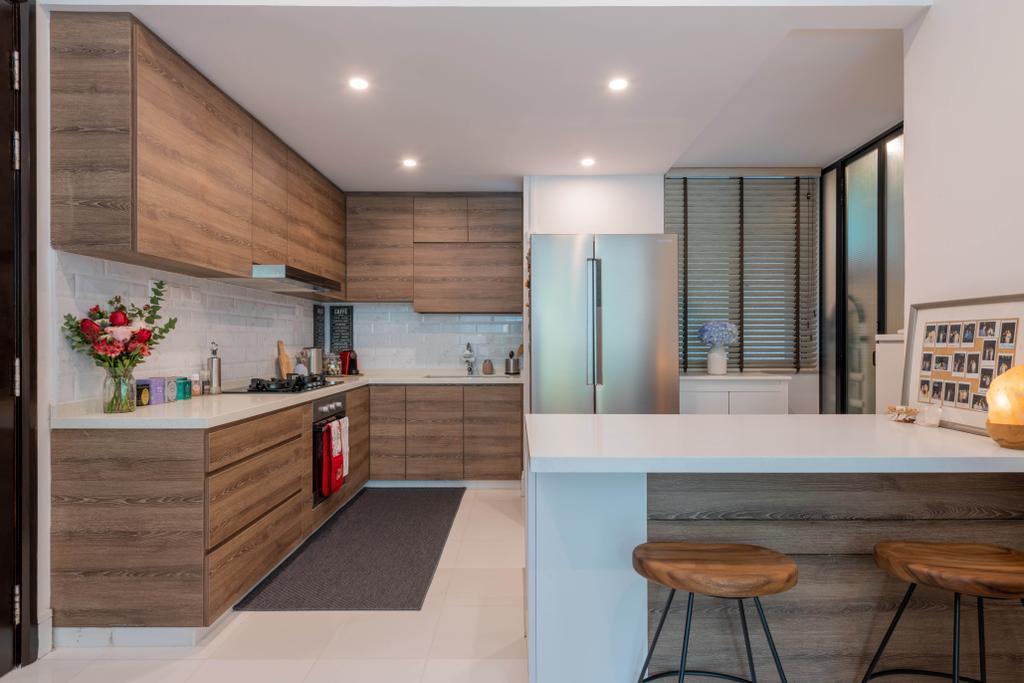 Modern, Condo, Kitchen, The Raintree, Interior Designer, Meter Square, Contemporary