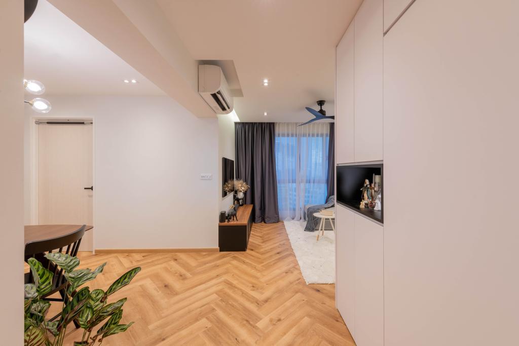 Modern, HDB, Living Room, Clementi Avenue 3, Interior Designer, Meter Square, Scandinavian