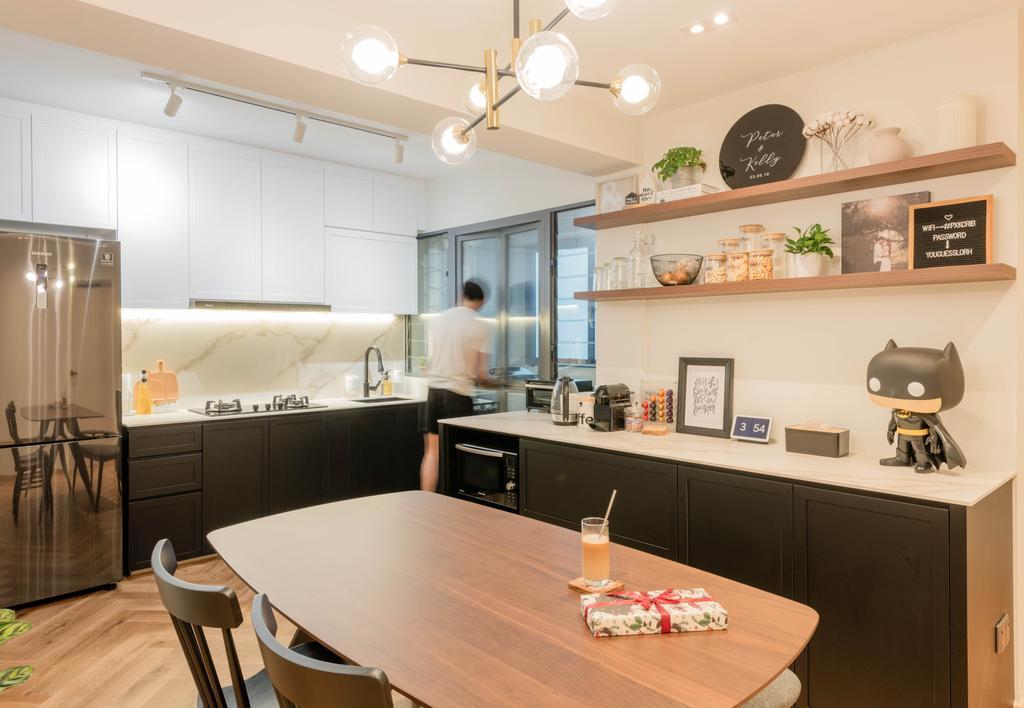 Modern, HDB, Kitchen, Clementi Avenue 3, Interior Designer, Meter Square, Scandinavian