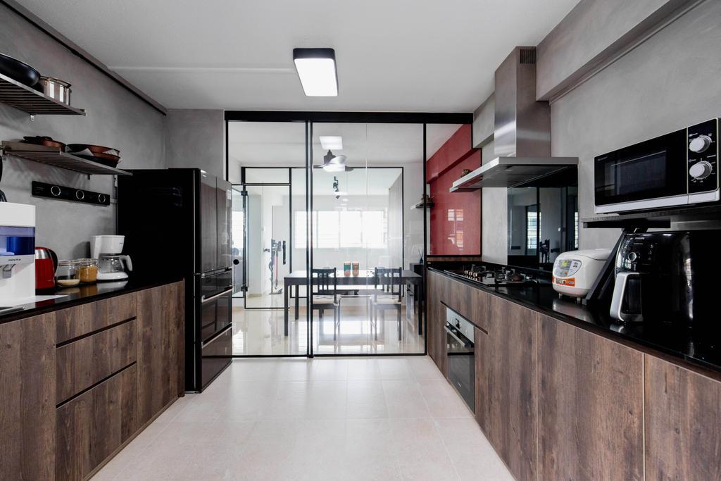 Contemporary, HDB, Kitchen, Bishan Street 22, Interior Designer, Forefront Interior