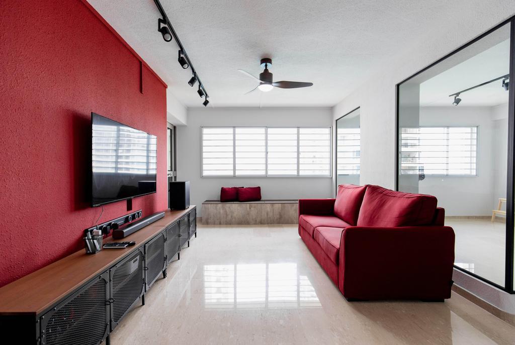 Contemporary, HDB, Living Room, Bishan Street 22, Interior Designer, Forefront Interior