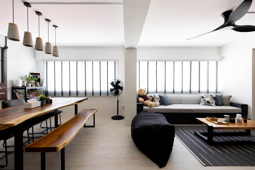 Contemporary, HDB, Dining Room, Bishan Street 24, Interior Designer, Forefront Interior, Scandinavian