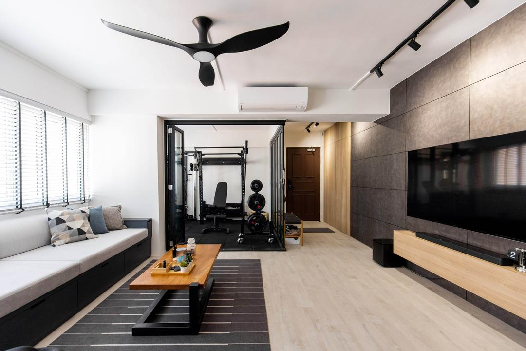 Bishan Street 24, Forefront Interior, Contemporary, Scandinavian, Living Room, HDB