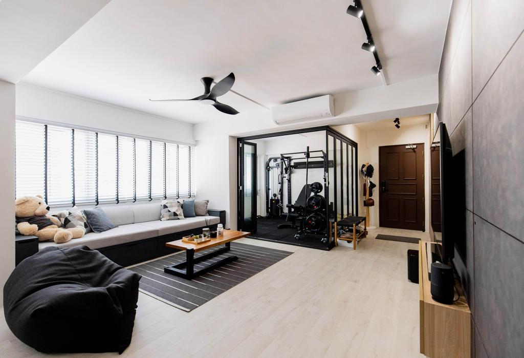 Contemporary, HDB, Living Room, Bishan Street 24, Interior Designer, Forefront Interior, Scandinavian