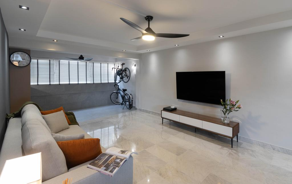 Contemporary, HDB, Living Room, Bedok Reservoir Road, Interior Designer, Yang's Inspiration Design
