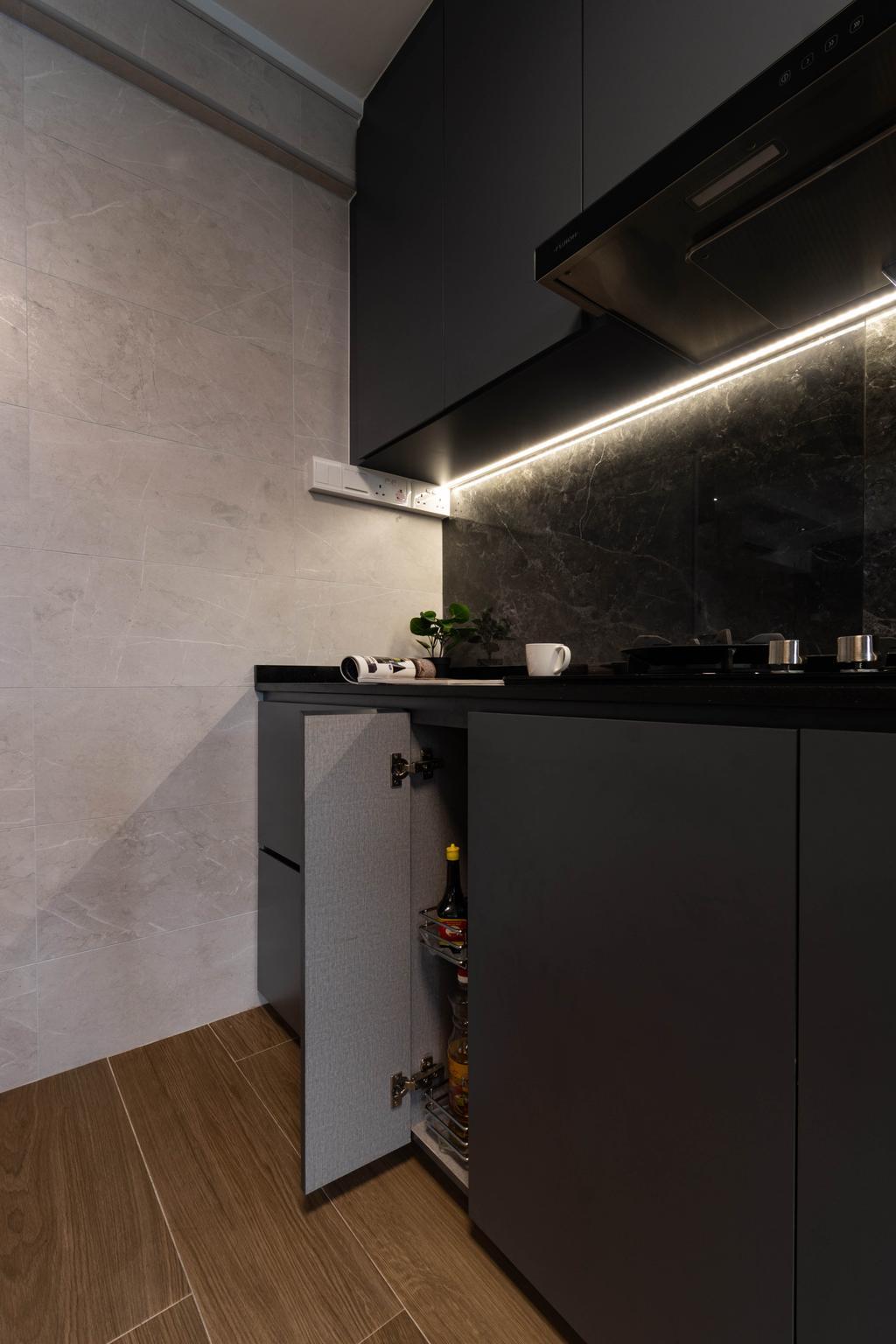 Contemporary, HDB, Kitchen, Bedok Reservoir Road, Interior Designer, Yang's Inspiration Design