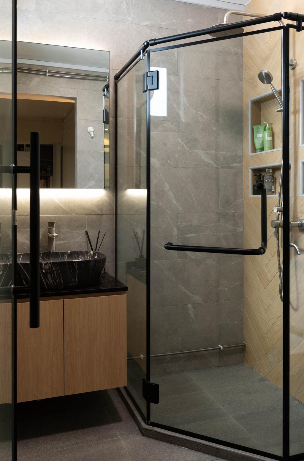 Contemporary, HDB, Bathroom, Bedok Reservoir Road, Interior Designer, Yang's Inspiration Design