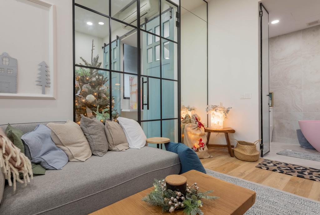 Modern, Condo, Living Room, Prince Charles Crescent, Interior Designer, Meter Square, Scandinavian