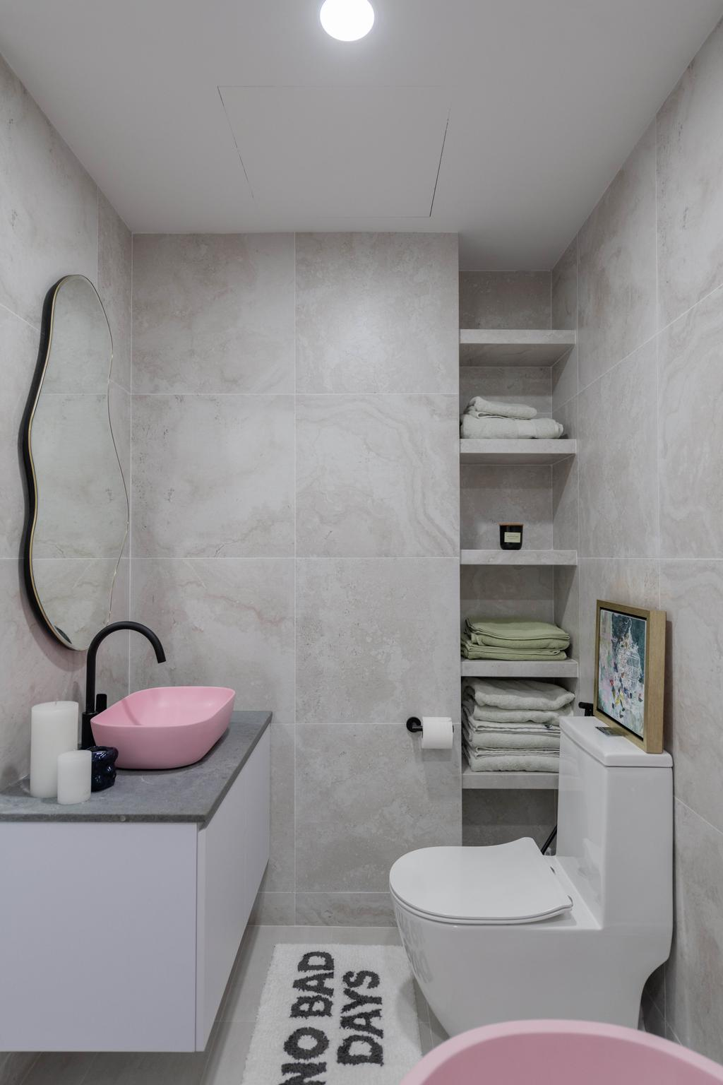Modern, Condo, Bathroom, Prince Charles Crescent, Interior Designer, Meter Square, Scandinavian