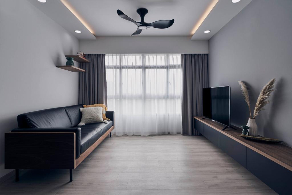 Contemporary, HDB, Living Room, Anchorvale Plains, Interior Designer, Charlotte's Carpentry