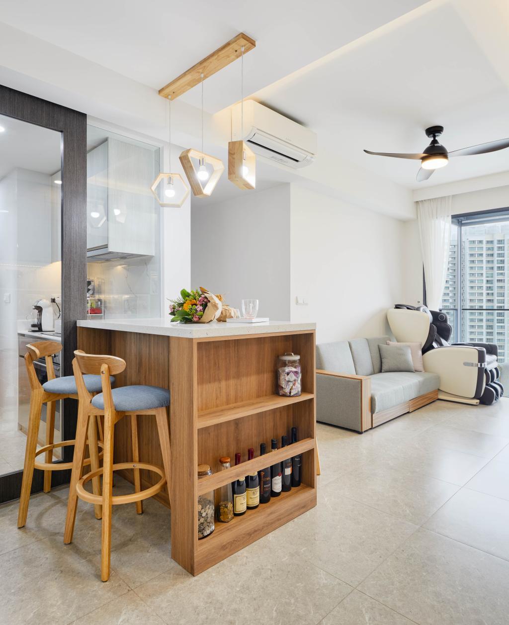 Scandinavian, HDB, Living Room, Clementi Avenue 1, Interior Designer, Absolook Interior Design