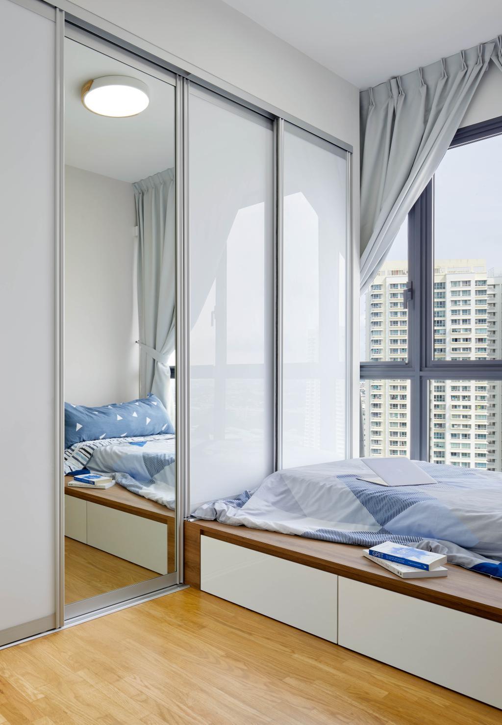 Scandinavian, HDB, Bedroom, Clementi Avenue 1, Interior Designer, Absolook Interior Design