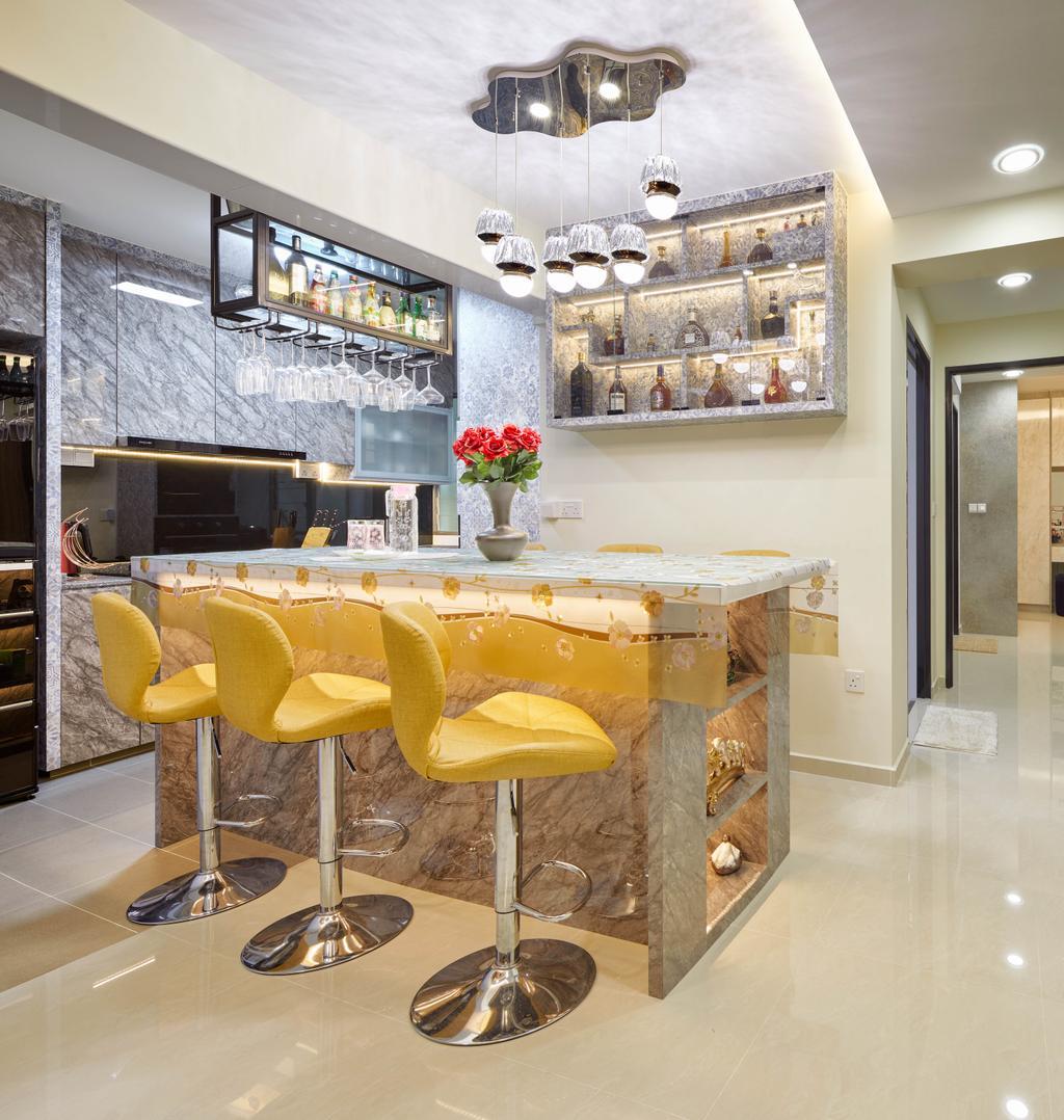 Transitional, HDB, Dining Room, St. George's Lane, Interior Designer, Absolook Interior Design