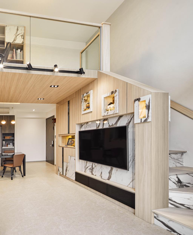 Modern, Condo, Living Room, INz Residence, Interior Designer, Absolook Interior Design