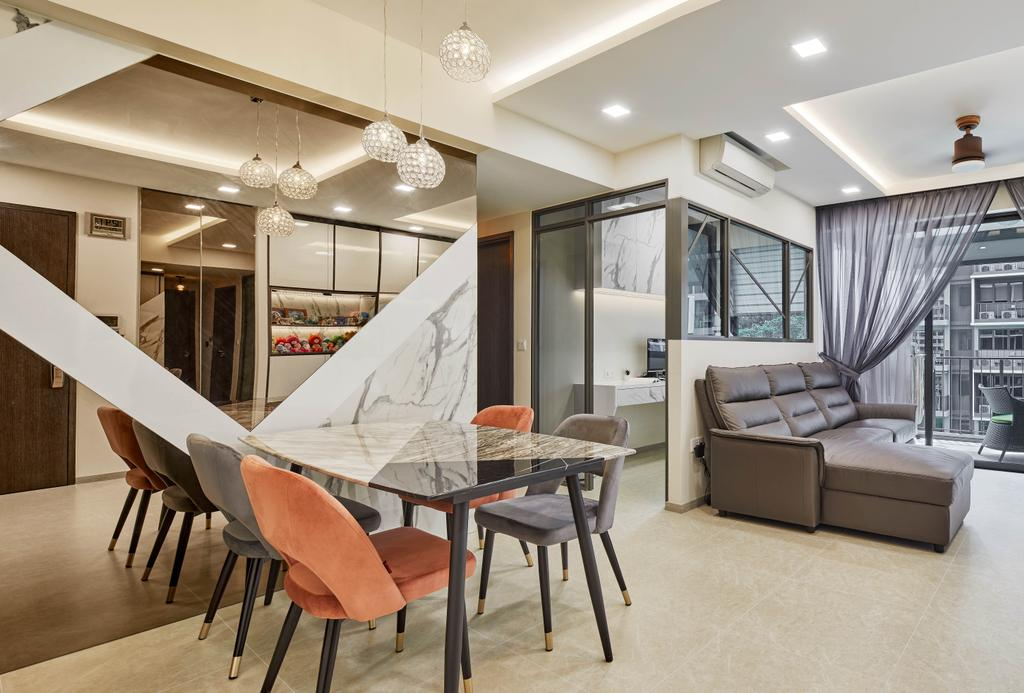Modern, Condo, Dining Room, INz Residence, Interior Designer, Absolook Interior Design