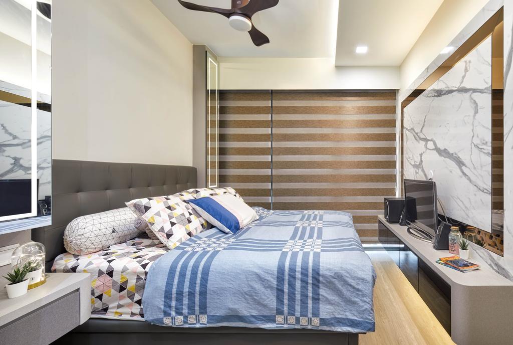 Modern, Condo, Bedroom, INz Residence, Interior Designer, Absolook Interior Design