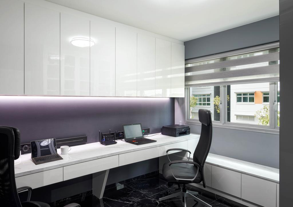 Modern, HDB, Study, Circuit Road, Interior Designer, Absolook Interior Design, Contemporary